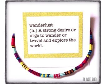 "Wanderlust Friendship Bracelet - ""Kiddo"" - colorful wrapped friendship bracelet - made with cotton, merino and alpaca"