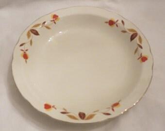 Jewel tea hall superior kitchen ware china autumn leaf soup bowl
