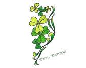 St Patricks day party favor 2 Temporary tattoo Flower tattoo Green body sticker Irish party tattoo Shamrock tattoo Custom Women body tattoo