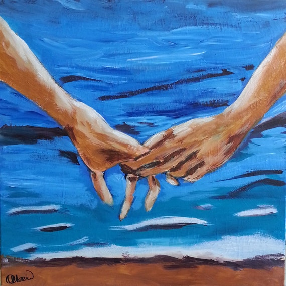 Holding Hands Painting