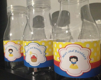 Snow White Water Bottle Labels By Love this Moment!