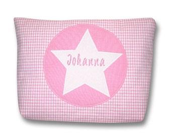Diaper bag, bags, diaper bags, toiletry bags, name, Star, pink
