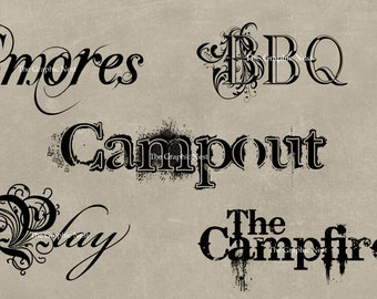 Camping word art. Digital download