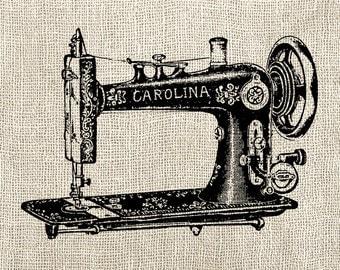 Vintage Sewing Machine - Digital Download Clipart - Sewing Machine Illustration - Antique Sewing Machine Art Craft - INSTANT DOWNLOAD