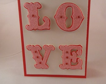 Valentines Day Card, Anniversary Card, Love You Card