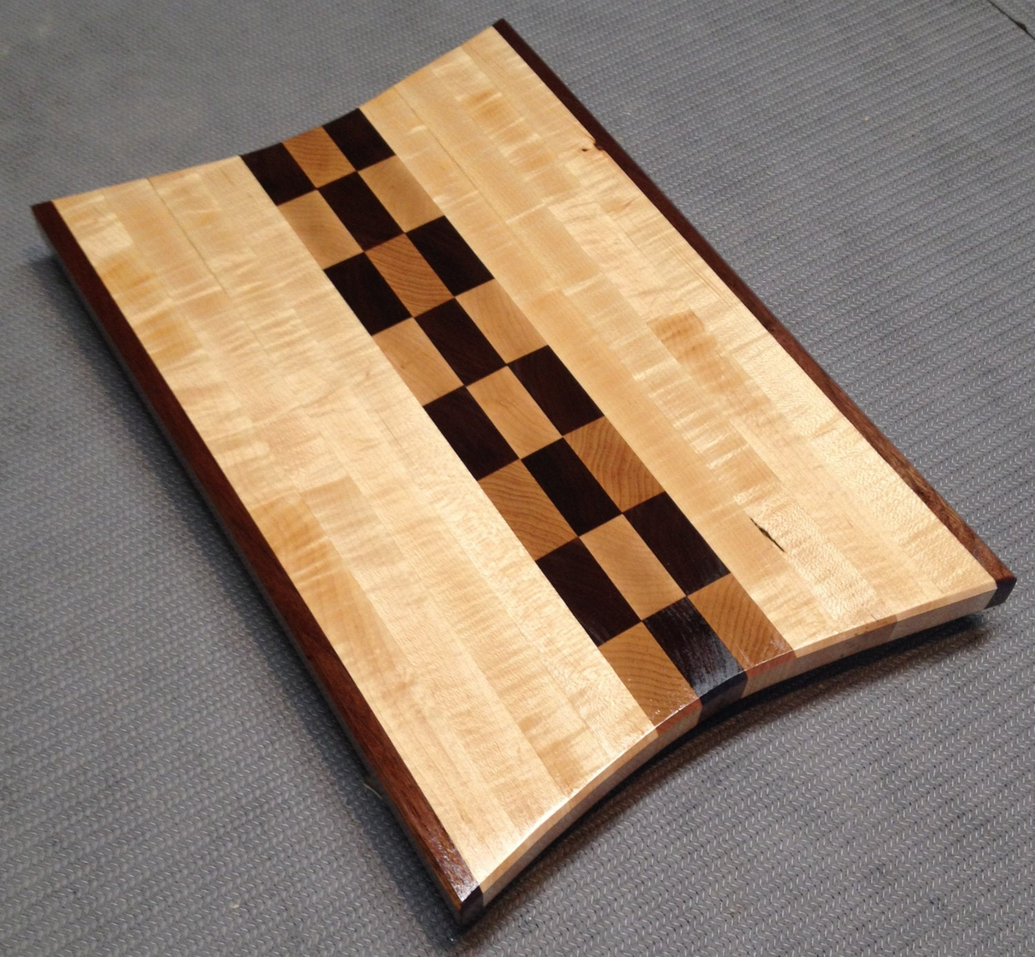 Curly maple and black walnut cutting board