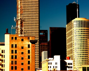 Morning in May. Houston, Texas. 2010. Architecture photography. Office art. Houston photography. Urban photography.