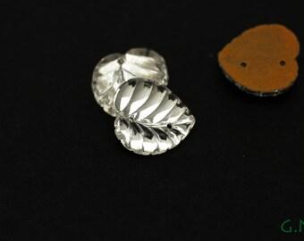 Vintage Czechoslovakian Sew On Rhinestone, crystal,13MM JWL065651