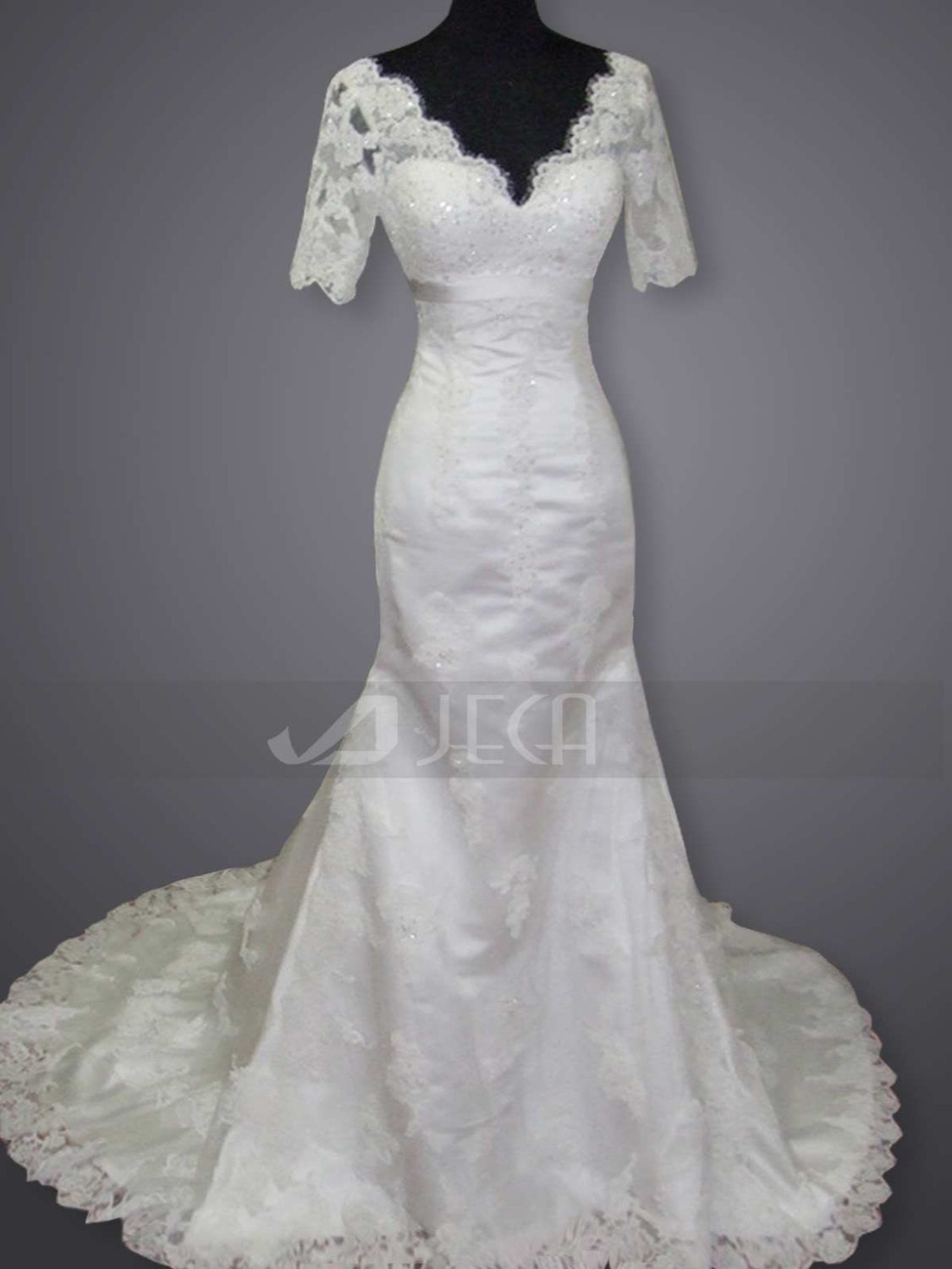 Vintage Inspired Lace Elegant Wedding Gown Fall by JecaBridal