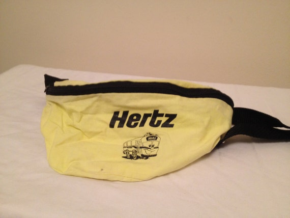 hertz rental car fluorescent neon yellow cotton by blincovintage. Black Bedroom Furniture Sets. Home Design Ideas