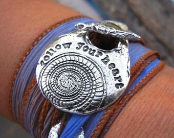 Inspirational Jewelry, Inspiration Silk Wrap Bracelet