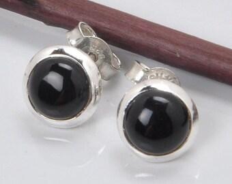 Onyx Earrings , Onyx Silver Earrings , Sterling Silver Earrings , Onyx Sterling Silver Earrings , Silver Earrings , 21297