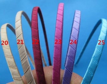 5mm 25 Colors  Metal Ribbon Wrapped  Headband/Hairband Charm Fiinding,DIY Accessory Jewelly Making