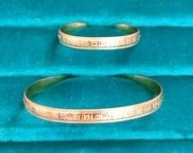Gold Filled Mother Daughter Bracelet Set