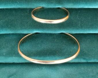 Mother Daughter Bracelet set Gold Filled