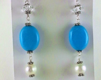 Oh Magnesite! Chalk Turquoise Earrings