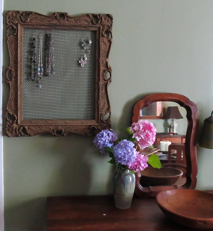 Custom Jewelry Display Frame: Large Victorian Frame Jewelry Display Jewelry By HollyODesigns