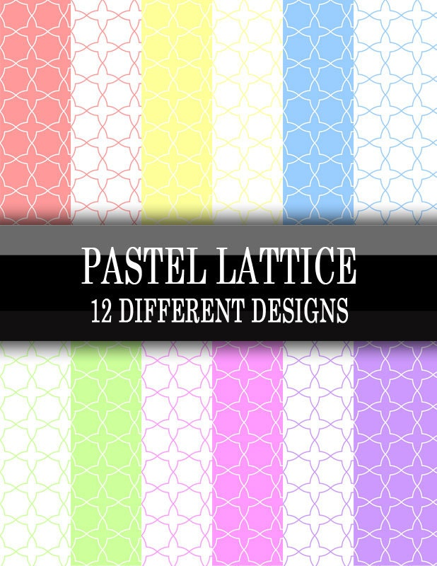 12 Different Eyeliner Tutorials To Switch Up Your Look: 12 Different Pastel Color Lattice Printable Scrapbooking