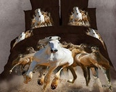 Bedding animal 4pc bedding set 3D Duvet/quilt cover 100% Cotton bedsheets bed linen sets king queen size
