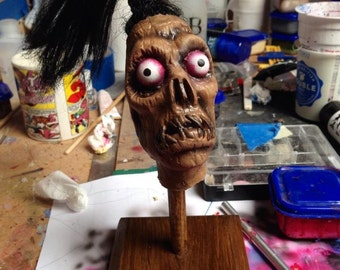 Beetlejuice Shrunken Head Guy Latex Horror Prop Replica