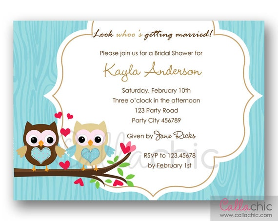 Owl Wedding Invitations and get inspiration to create nice invitation ideas