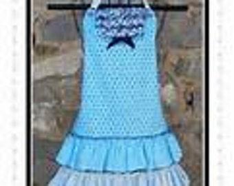 Blue Daiquiri Apron Pattern by Sew Much Good