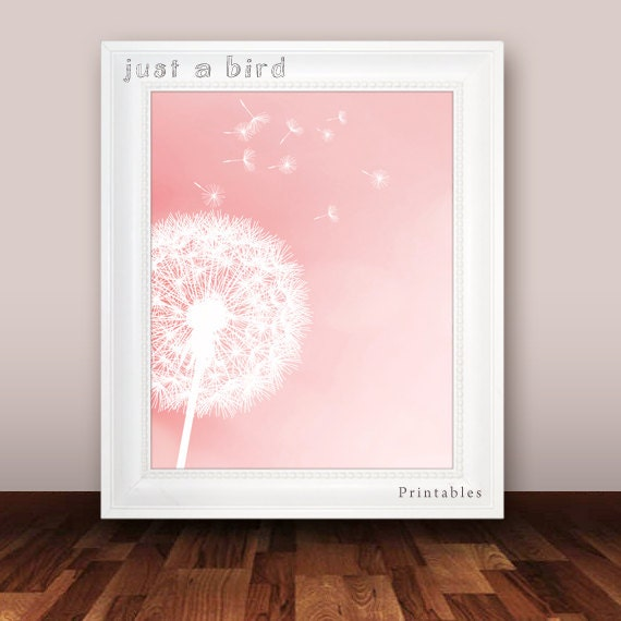 Items similar to 5x7 and 8x10 dandelion art print girls for 5x7 room design
