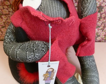 Doudou Pupazze di Gaia vest red The Girl from Ménilmontant