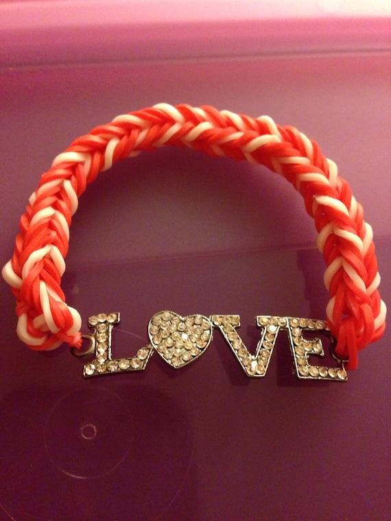 Valentines Day Love Rainbow Loom Bracelet