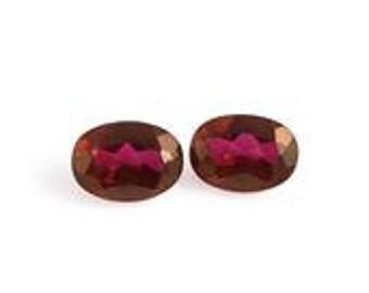 Mystic Ruby Quartz Set of 2 Oval Cut Loose Gemstones 1A Quality 7x5mm TGW 1.80 cts.