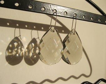 Something Old, Something New - smoky crystal bridal earrings #19