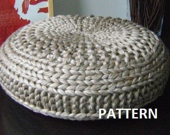 Popular items for pouf pattern on etsy - Knitted pouf ottoman pattern ...
