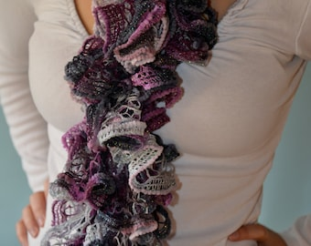 Sequin and Sparkle Ruffle Scarves