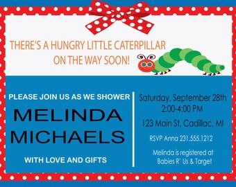 A Cute Caterpillar Baby Shower Invitation