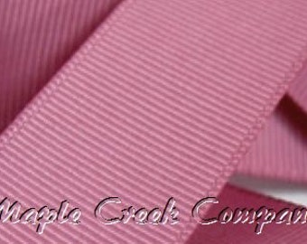 "5 yards Rosy Mauve Grosgrain Ribbon, 4 Widths Available: 1 1/2"", 7/8"", 5/8"", 3/8"""