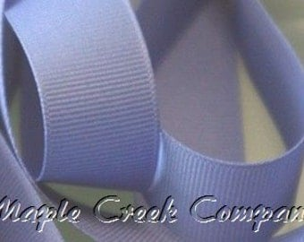 "5 yards Periwinkle Iris Grosgrain Ribbon, 4 Widths Available: 1 1/2"", 7/8"", 5/8"", 3/8"""