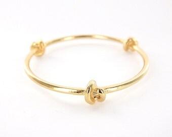 Three Knot Bangle Bracelet