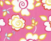1 & 1/3 YARD End of Bolt - Last Chance - Kumari Garden - Sachi - Pink by Dena Fishbein for Free Spirit Fabrics