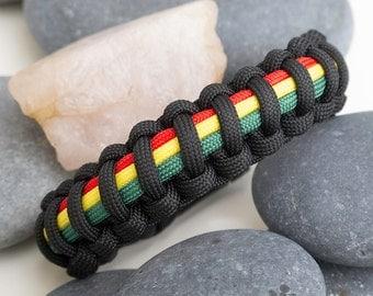 Rasta Paracord Survival Bracelet