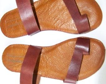 Top Grain Leather Grecian Sandal