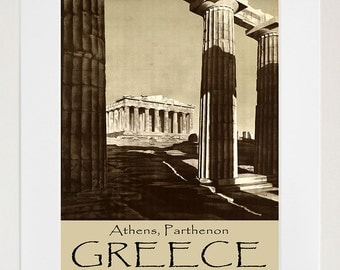 Greece Travel Poster Greek Art Print Vintage Home Decor (ZT205)