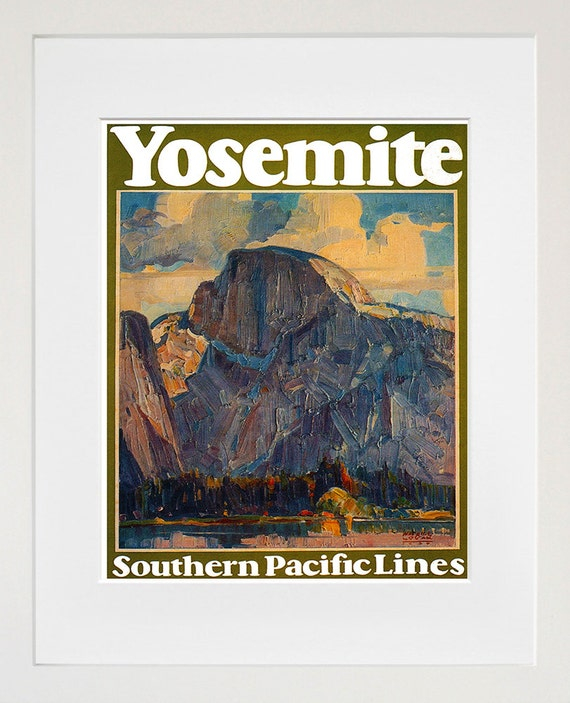 Yosemite Poster Winter Vintage: Travel Poster Yosemite National Park Vintage Art Print TR7