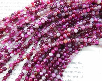 4mm agate round beads, 15.5 inch