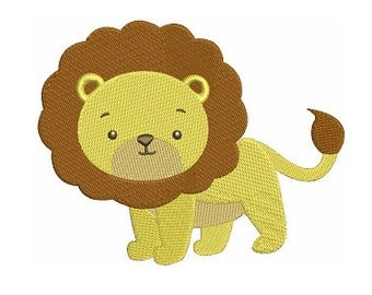 Lion Machine Embroidery Design African Animal Pattern  - Instant Download