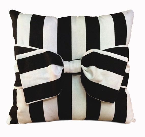 Black Stripe Throw Pillow : Canopy Stripe Black Throw Pillow by AngelBedding on Etsy