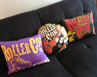 Rollercon Throw Pillows