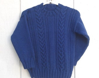 Childs sweater - 6 to 7 years - Kids navy jumper - Kids knit sweaters - Childrens clothing