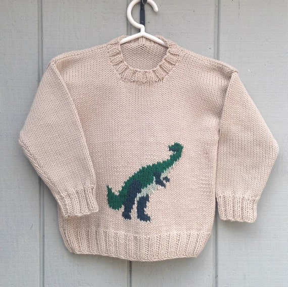 Knitting Pattern For Dinosaur Sweater : Dinosaur sweater 6 to 7 years Boys knit by LurayKnitwear ...