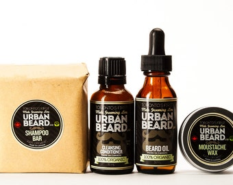 Organic & Vegan Friendly Beard Grooming Gift Pack