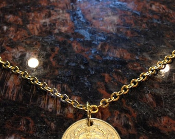Iceland 50 krona coin necklace